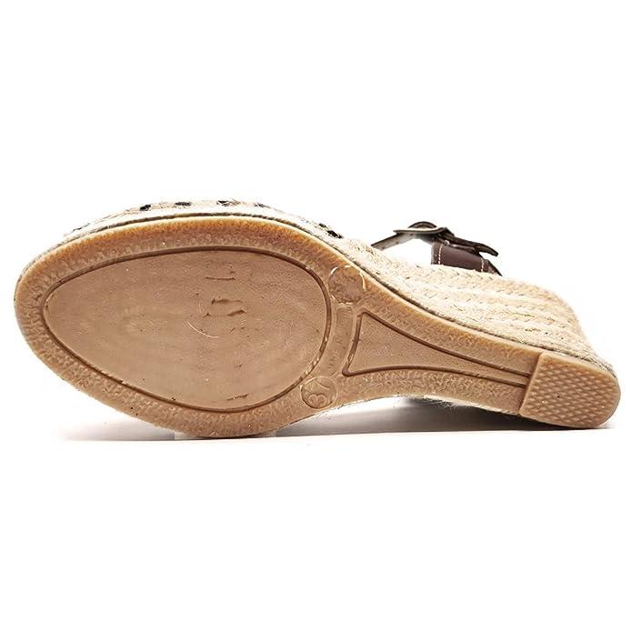 57cfb30f Beatria - Sandalias Cuña Esparto 5 Cuerdas Animal Print Leopardo Mujer:  Amazon.es: Zapatos y complementos
