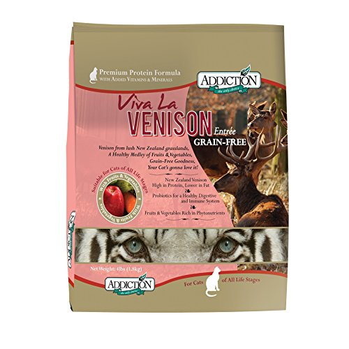 Addiction Viva La Venison Grain Free Dry Cat Food, 4 lb.