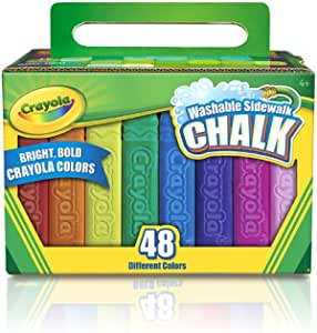 amazon com crayola washable sidewalk chalk 48 ct by