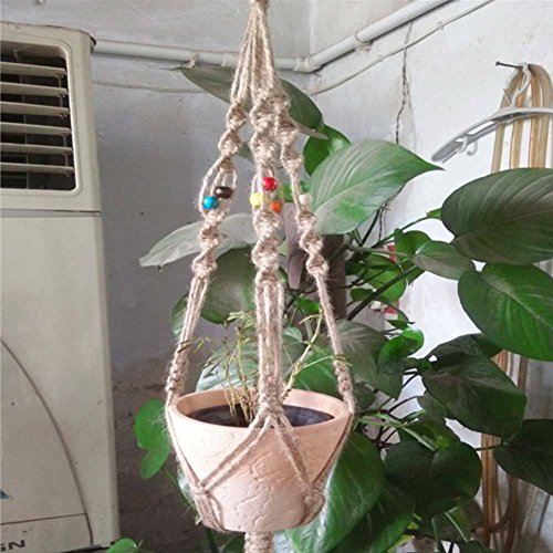 VIPASNAM-Vintage Plant Hanger Holder Hooks Macrame Plant Hanger Hanging Planter (Rabbit Sun Fun Mix)
