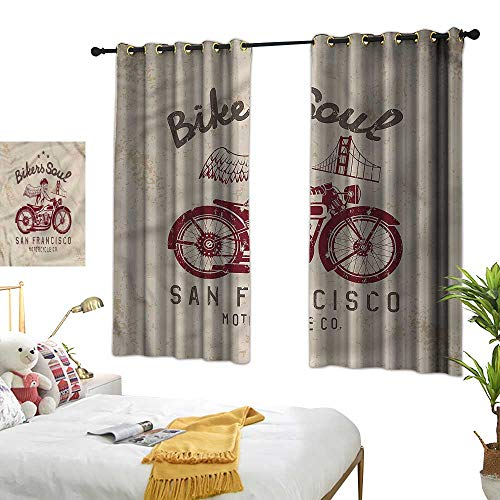 G Idle Sky Bedroom Windproof Curtain Retro Mildew-Proof Polyester Fabric Bikers Soul San Francisco 72