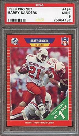 Amazoncom 1989 Pro Set 494 Barry Sanders Detroit Lions