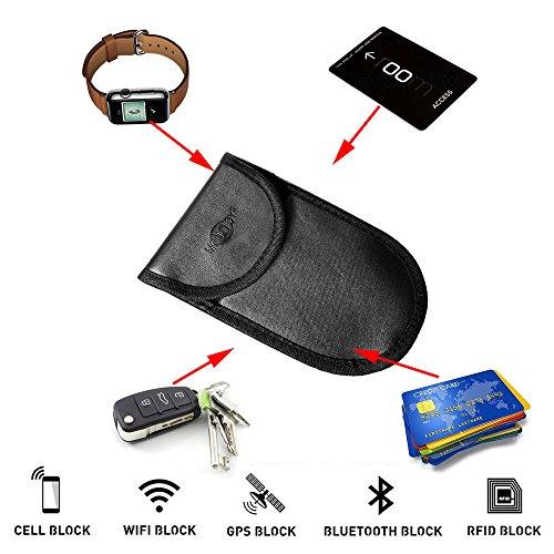 KeyFOBs Credit Card Protection MONOJOY 4336324168 Key Fob Guard Protector Device Shielding Car Key Remotes Keyless Entry Keyfob RFID Signal Blocking Bag Faraday Cage Anti-hacking Assurance For Wireless Car Keys