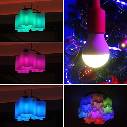 Revogi Smart Color LED Bulb LTB211 RGBW Dimmable Bluetooth 4.0 Low Energy Wireless Lightbulb, Android 4.3+ iOS 6+, E26, 8 Watt (60 Watt Replacement), Energy Class A+ Light, Schedule, Anti-Burglar Mode
