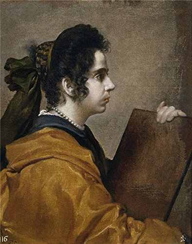 Oil Painting 'Velazquez Diego Rodriguez De Silva Y Juana Pacheco Wife Of The Artist Characterized As A Sibyl Ca. 1631' 10 x 13 inch / 25 x 32 cm , (Artist Costume Reference)