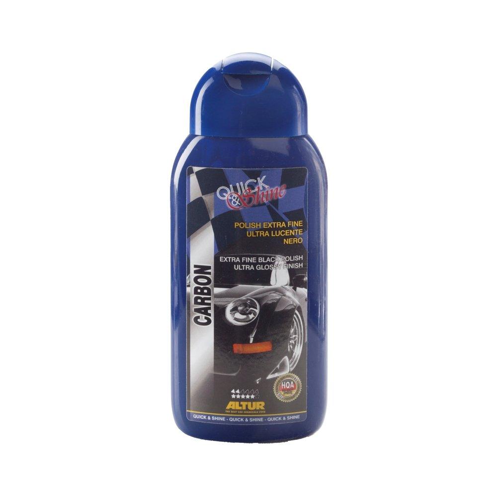 Altur Carbon Polish Nero da lucidatura, per venici Scure, elimina i micrograffi, lucentezza Nano-Tech Effetto Specchio 250 gr Altur Chemicals