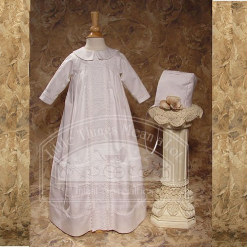 Baby Boys White Lace Bishop Baptism Outfit Gown 6M by Little Things Mean A Lot