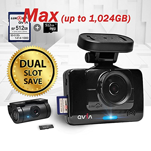 Lukas QVIA R935 R935G Car Black Box 2Ch Dashcam (Dual slot up to 1,024GB Memory Capacity) - 16GB
