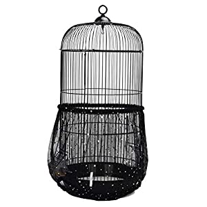 QBLEEV Bird Cage Seed Catcher Mesh Birdcage Seeds Skirt Guard Net Cover Shell for Round Bird Cages 23