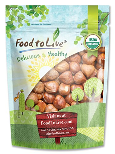Organic Hazelnuts/Filberts by Food to Live (Raw, No Shell, Kosher, Bulk) - 8 Ounces