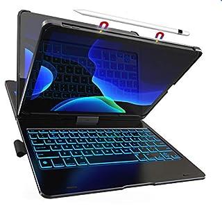 iPad Pro 11 Keyboard Case - Backlit - Wireless - 360° Rotatable - iPad Pro 11 Case with Keyboard - Thin & Light - Slim Folio Cover - Auto Sleep/Wake - 11 inch - 10 Color Backlight (1st Generation)
