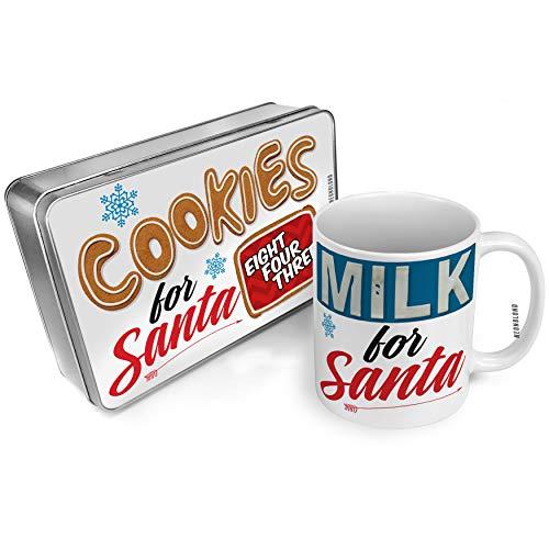 (NEONBLOND Cookies and Milk for Santa Set 843 Charleston, SC red Christmas Mug Plate)