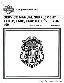 99483 91sp 1991 harley davidson fxrp and 1991 harley davidson flhtp rh amazon com Harley Engine Harley Parts