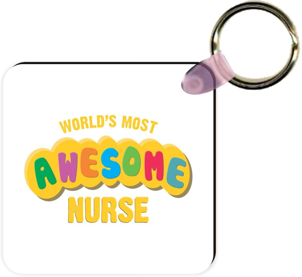 White Rikki Knight Worlds Most Awesome Nurse Square Kc