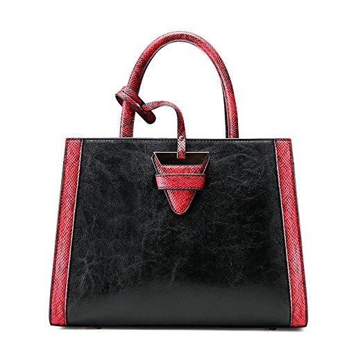Sjmmbb Fashion Handbag Shoulder Bag Slant, Gray, Black 31x24x12cm