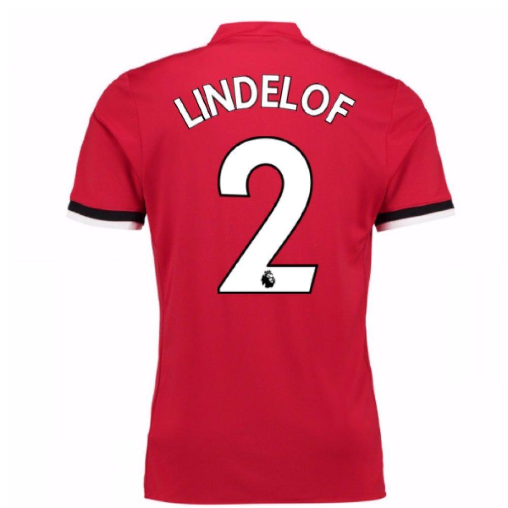 2017-2018 Man United Home Football Soccer T-Shirt Trikot (Victor Lindelof 2)