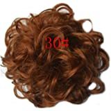 GOMOWIG Hair Bride Bun Ring Dount Curly For Pick Clip On Ponytail 30#