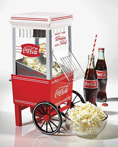 082677261502 - Nostalgia OFP501COKE Coca-Cola 12-Cup Hot Air Popcorn Maker carousel main 1