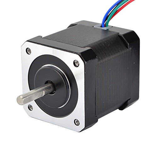 STEPPERONLINE Nema 17 Stepper Motor Bipolar 2A 59Ncm(84oz.in) 48mm Body 4-lead W/ 1m Cable and Connector compatible with 3D Printer/CNC ()