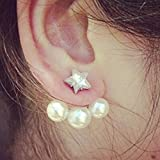 owl kids humidifier - KAKA(TM) Women Girl Korean Stylish Silver Edge Pearl Star Rhinestone Beauty Earing Accessories