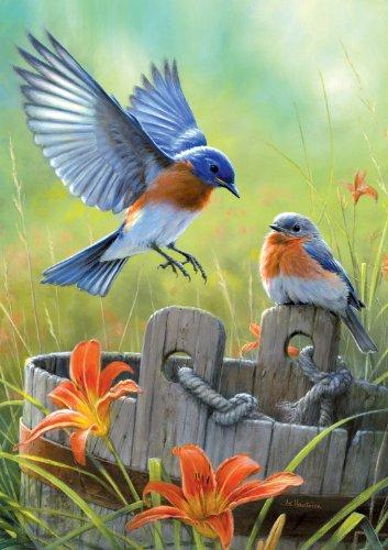 Large Piece: Bluebirds - 300 Piece Jigsaw Puzzle