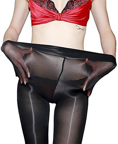 (8D Women's Shaping Socks Oil Socks Shiny Silk Stockings Pantyhose Dance Tights (Black))