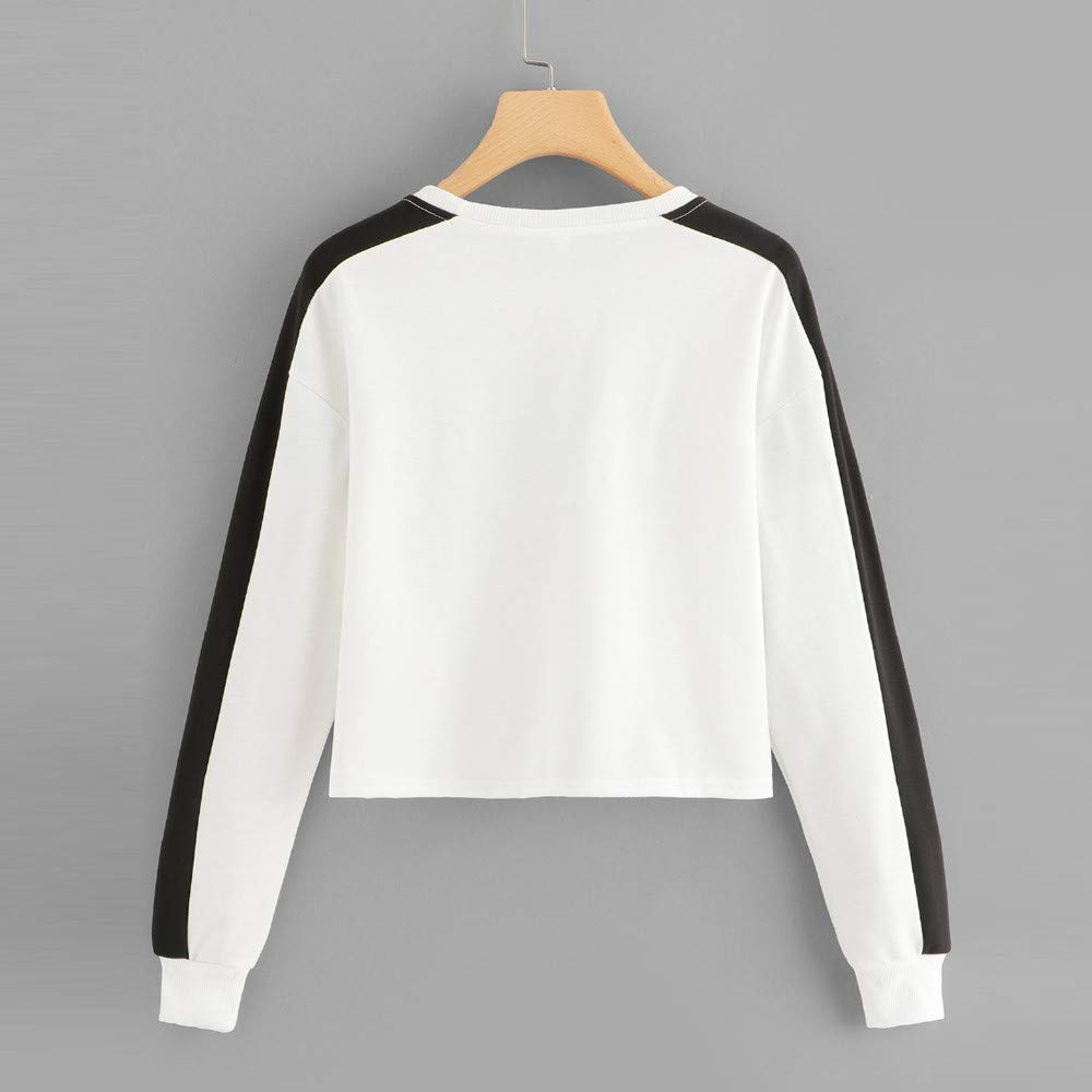 Leoy88 Womens Long Sleeve Letter USA Stitching Casual Sweater at Amazon Womens Clothing store: