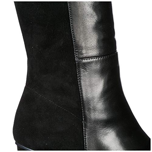 Leather Black Boots Eloise Women's Weitzman Heel Stuart wHEBxB