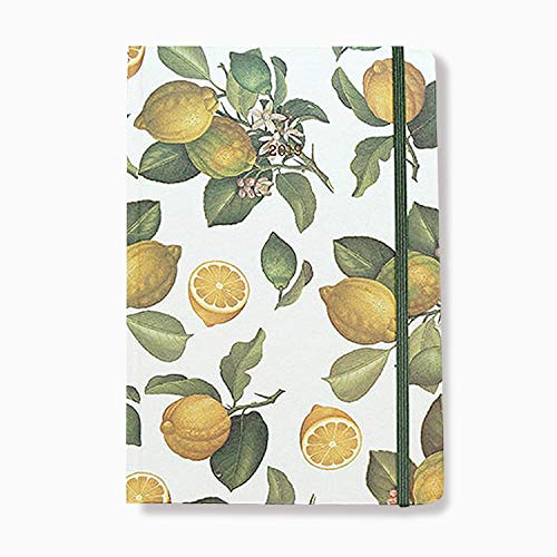 Flower Design Daily Diary 2019 Planner New Year Planner Monthly Weekly Scheduler Personal Organizer Business Appointment Book Agenda Journal, 224p, 5.59 X 8.11 (Lemon)