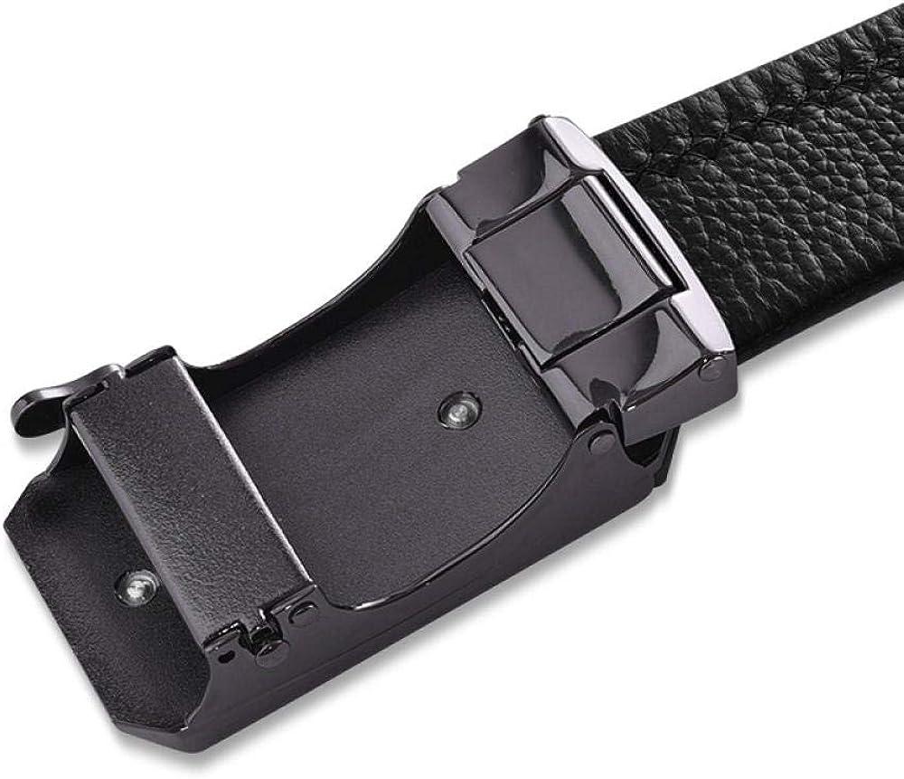wrhua Ceinture pour hommes occasionnels boucle automatique ceinture de mode d'affaires 115cm