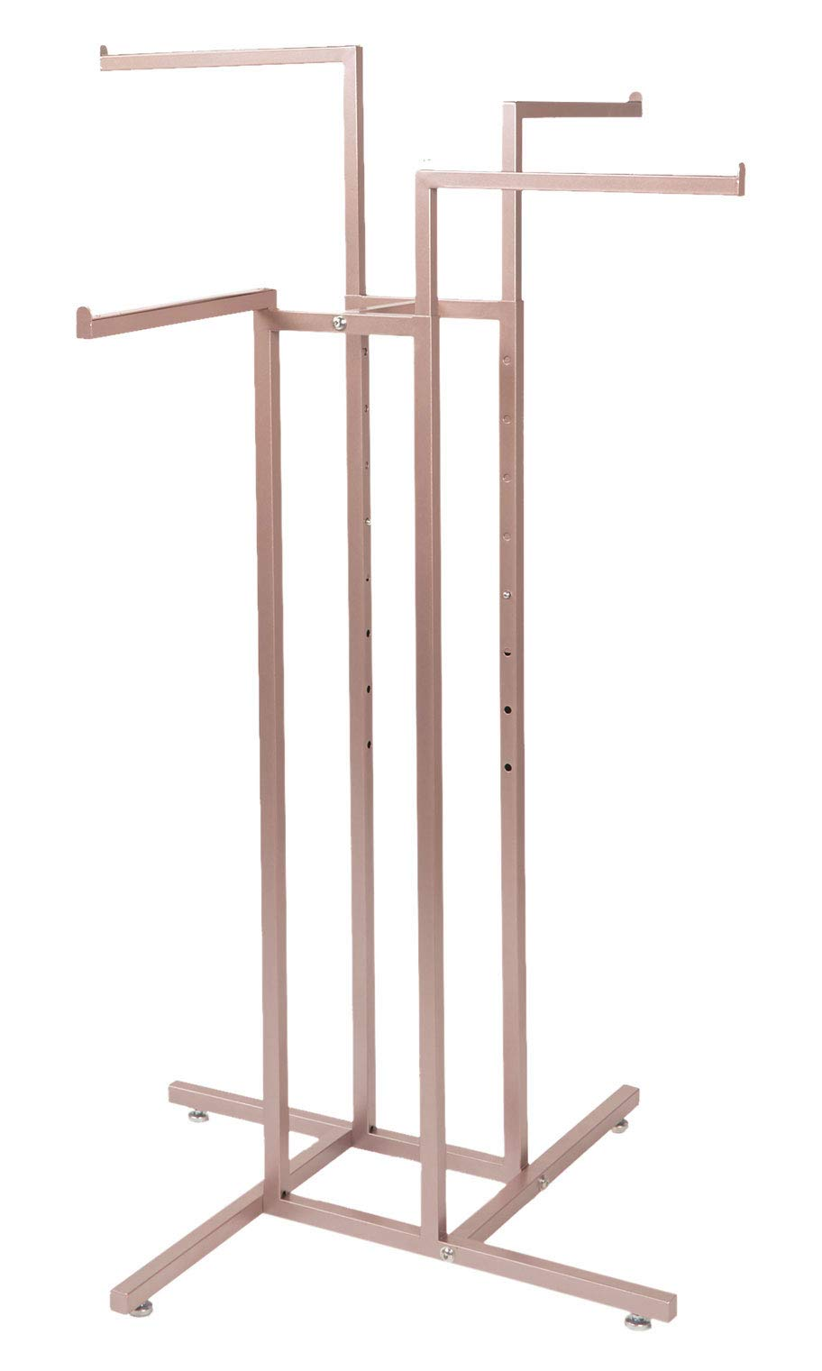 SSWBasics 4-Way Clothing Rack with Straight Arms (Rose Gold)