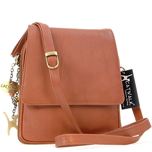 type signé cuir besace en Tanne Collection Catwalk Sac