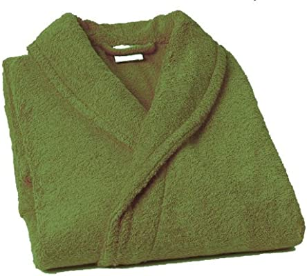 Home Basic - Albornoz con cuello tipo smoking, talla M, color caqui