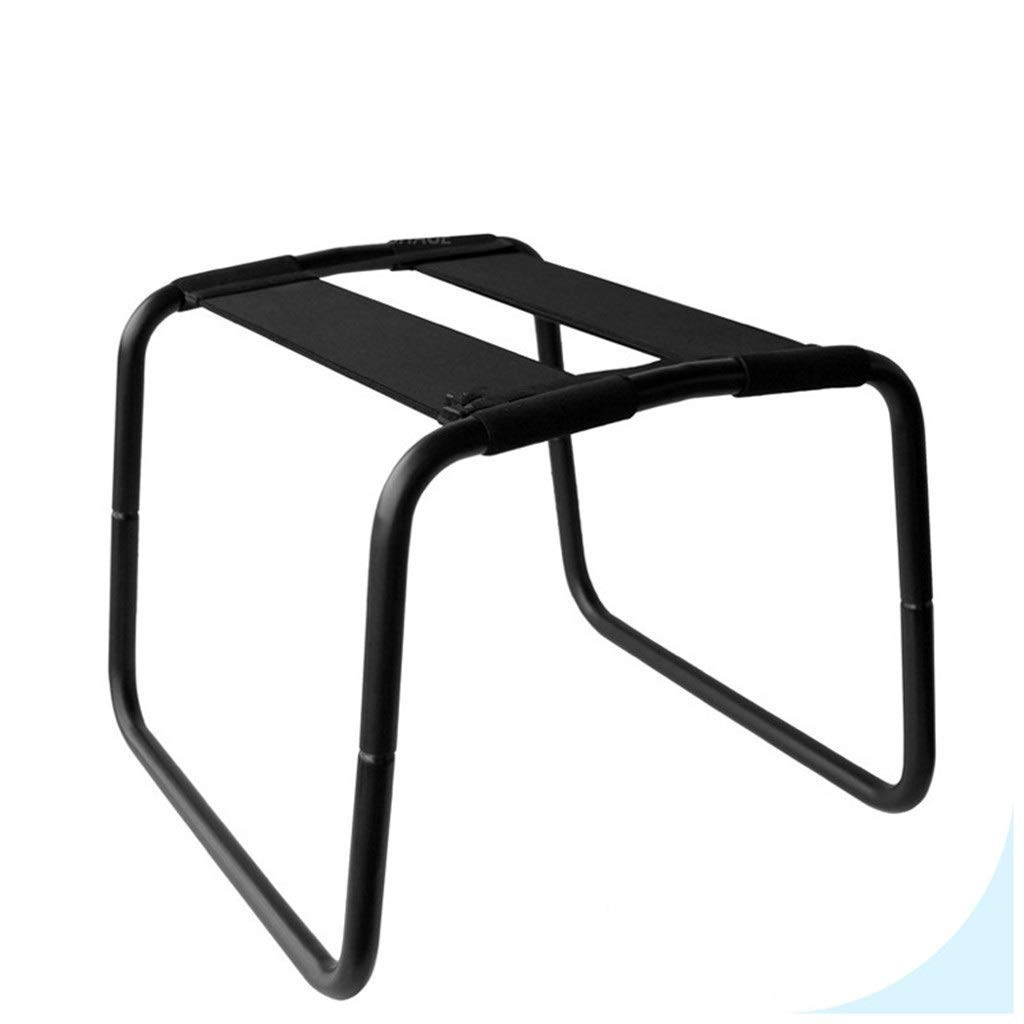 XBWsir olding Multifunction Chair Portable Elastic Chair Bedroom Bathroom Chair Furniture Chair Black Love Chair Sports Chair Home Gym Tool