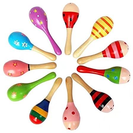 Multi-Color-Babykinder aus Holz Spielzeug Baby Holz Stick Musikinstrument Spielzeug