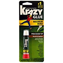 Krazy Glue KG82148R Instant Crazy Glue Wood and Leather Formula Tube 0.07-Ounce