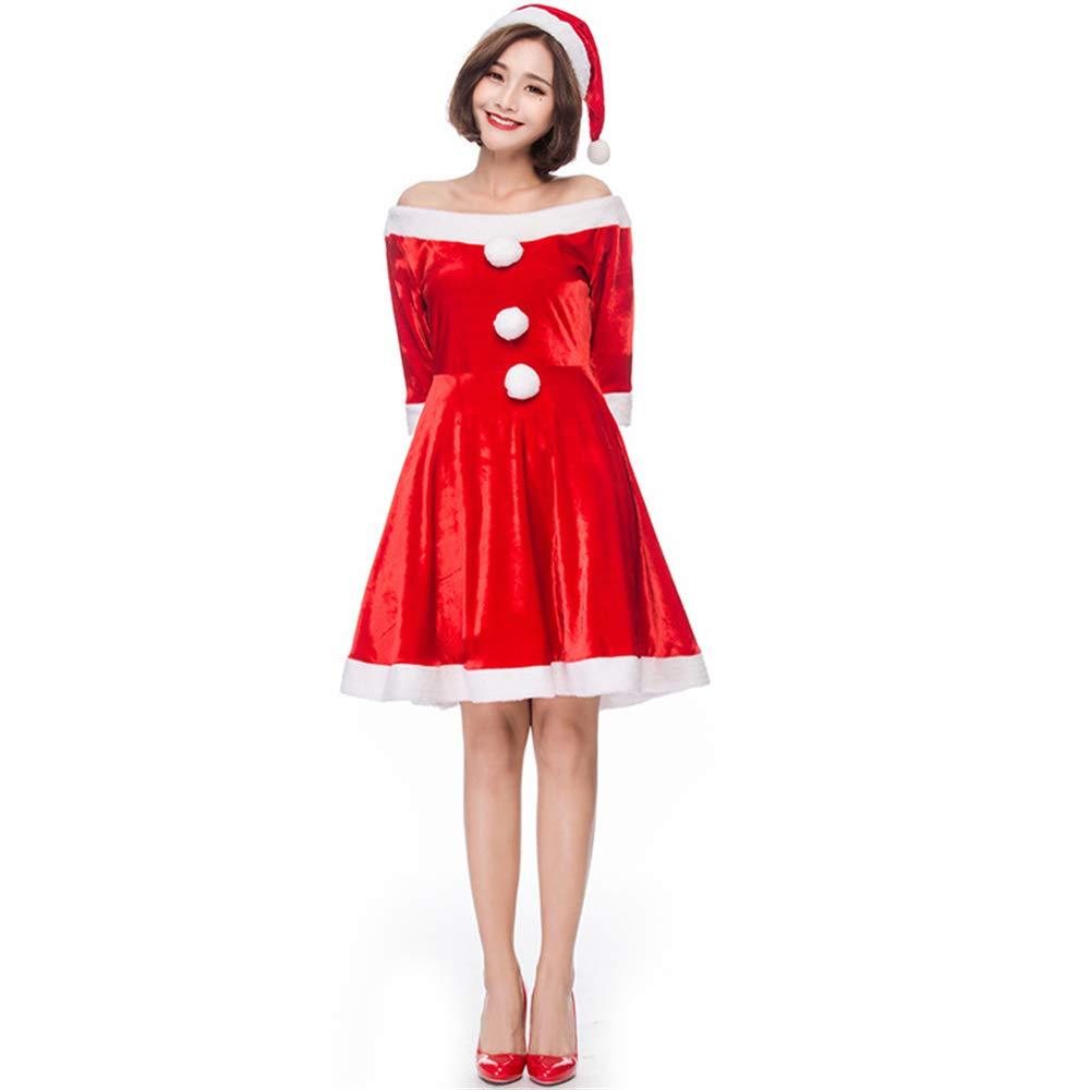 Peggy Gu Lenceria Navideña Navideña Lenceria para Mujeres Vestido de Fiesta de Navidad de Hairball Vestido de Rendimiento de Cosplay para Mujeres Vestido Festivo de Lujo para Adultos Body Babydoll Rojo Sexy 528f5b