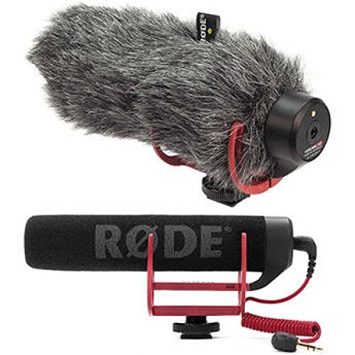 Rode VideoMic GO On-Camera Shotgun Microphone and DeadCat Wind Cover Kit by The Imaging World