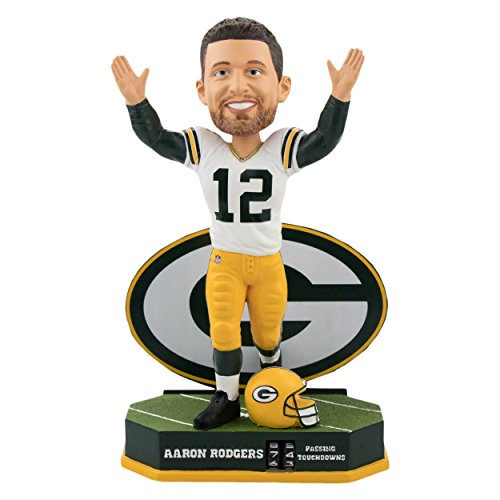 Forever Collectibles Aaron Rodgers Green Bay Packers Passing Touchdown Tracker Bobblehead NFL