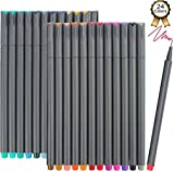 iBayam Fineliner Pens, 24 Colors Fine Tip Colored Writing Drawing Markers Pens Fine Line Point Marker Pen Set for Journaling Planner Note Calendar Coloring Office School Supplies Art Projects: more info