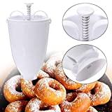 Mini Donut Maker Dispenser - Manual Donut Depositor Dropper Plunger Dough Batter Dispenser Hopper- Frying Model Creative Donut Creation DIY Baking Tool Hot Style