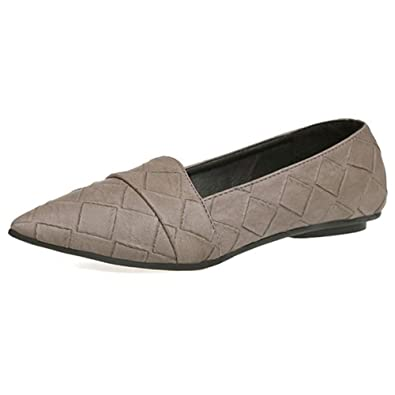 Barco de Zapatos de Las Mujeres señaló Deslizamiento de Zapatos Planos del Dedo del pie Zapatos Mocasines sólido Casual Zapatos de Funcionamiento: ...