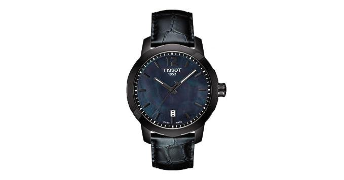 Tissot hombre t0954103612700 Quickster pantalla analógica Swiss reloj de cuarzo negro