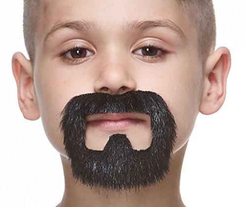 Small inmate black lustrous fake beard, self adhesive - Beards And Mustaches Costume