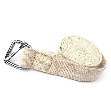Wang5997 3 Metros de Yoga cinturón de Estiramiento D-Ring ...