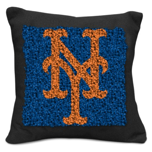 MLB New York Mets Pillow Latch Hook Kit, 9-Inch - New York Mets Pillow