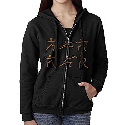 Okb-7 Women's Full Zip-Up Sweatshirt Tai Chi Art Active Pullover Sport Outwear Jackets