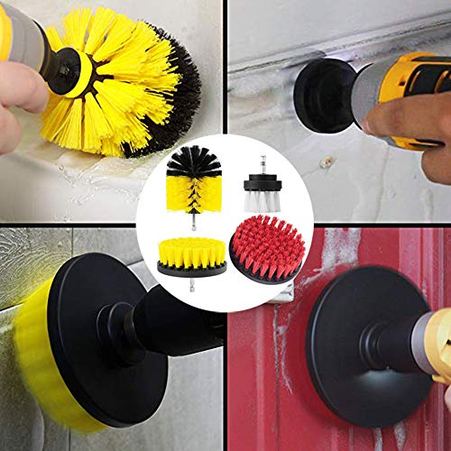- CapsA New 4Pcs Grout Power Scrubber Cleaning Brush Tub Cleaner Combo Tool Kit (A)