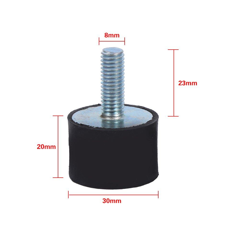 4 Pcs Rubber Shock Absorber Anti Vibration Silentblock Bobbins Size : M8