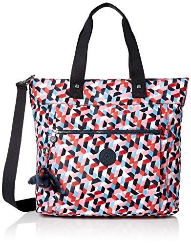 Kipling Lizzie Laptop Tote Bag, Removable, Adjustable Crossbody Strap, Zip Closure, forever tiles
